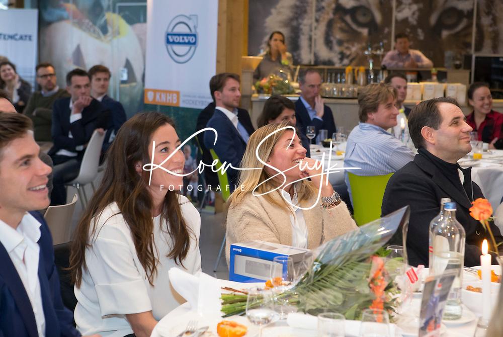 AMERSFOORT -  Spelerslunch 2016 , Nederlands team . Naomi van As , Kim Lammers en links Sander de Wijn. COPYRIGHT KOEN SUYK