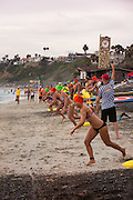 Swimmers Heading Out During the Ocean Festival Competition