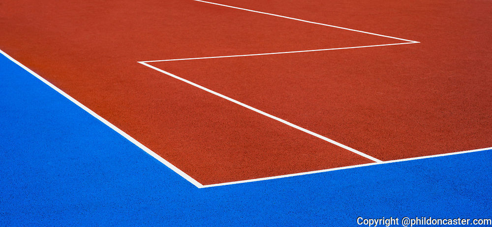 abstract photo of tennis court