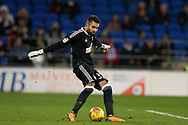Ipswich Town goalkeeper Bartosz Bialkowski in action. EFL Skybet championship match, Cardiff city v Ipswich Town at the Cardiff city stadium in Cardiff, South Wales on Tuesday 31st October 2017.<br /> pic by Andrew Orchard, Andrew Orchard sports photography.