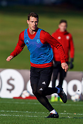 CARDIFF, WALES - Sunday, November 18, 2018: Wales' James Lawrence during a training session at the Vale Resort ahead of the International Friendly match between Albania and Wales. (Pic by David Rawcliffe/Propaganda)