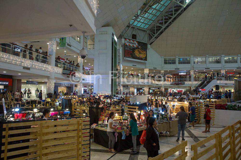 Inside  Glorietta Mall in Ayala Center, Makati, Metro Manila, Philippines.