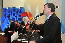 Presidente da Assembléia Legislativa, Gilmar Sossella, durante abertura do 34º Congresso de Municípios, no Plaza São Rafael, em Porto Alegre. FOTO: Vinicius Reis/ Divulgação AL/ Agência Preview
