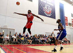 Leslee Smith of Bristol Flyers reaches for the ball - Mandatory by-line: Robbie Stephenson/JMP - 08/09/2016 - BASKETBALL - SGS Arena - Bristol, England - Bristol Flyers v USA Select - Preseason Friendly