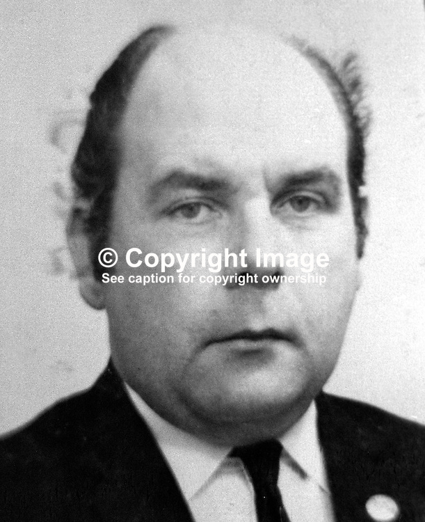 James Marks, Ballydougan, Portadown, shot dead 1st August 1975 whilst driving a minibus near Gilford. One of his passengers, all returning from an evening playing bingo, also died in the machine gun attack by the UVF.  Mr Marks died in hospital 6 months after the shooting.  In Lost Lives Mr Marks was named as John Marks. 197601080016JM.<br /> <br /> Copyright Image from Victor Patterson, Belfast, UK<br /> <br /> t: +44 28 9066 1296 (from Rep of Ireland 048 9066 1296)<br /> m: +44 7802 353836<br /> e: victorpattersonbelfast@gmail.com<br /> <br /> www.images4media.com<br /> <br /> Please see my full Terms and Conditions of Use at https://www.images4media.com/p/terms-conditions - it is IMPORTANT that you familiarise yourself with them.<br /> <br /> Images used online incur an additional cost. This cost should be agreed in writing in advance. Online images must be visibly watermarked i.e. © Victor Patterson or that of the named photographer within the body of the image. The original metadata must not be deleted from images used online.<br /> <br /> This image is only available for the use of the download recipient i.e. television station, newspaper, magazine, book publisher, etc, and must not be passed on to a third party. It is also downloaded on condition that each and every usage is notified within 7 days to victorpattersonbelfast@gmail.com.<br /> <br /> The right of Victor Patterson (or the named photographer) to be identified as the author is asserted in accordance with The Copyright Designs And Patents Act (1988). All moral rights are asserted.