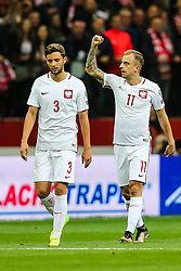 October 8, 2017 - Warsaw, Poland - Kamil Grosicki (POL) celebrates after he scored a goal   during Poland and Montenegro World Cup 2018 qualifier match in Warsaw, Poland, on 8 October 2017. POLAND won 4-2 and take on their World Cup 2018 qualifier. (Credit Image: © Foto Olimpik/NurPhoto via ZUMA Press)
