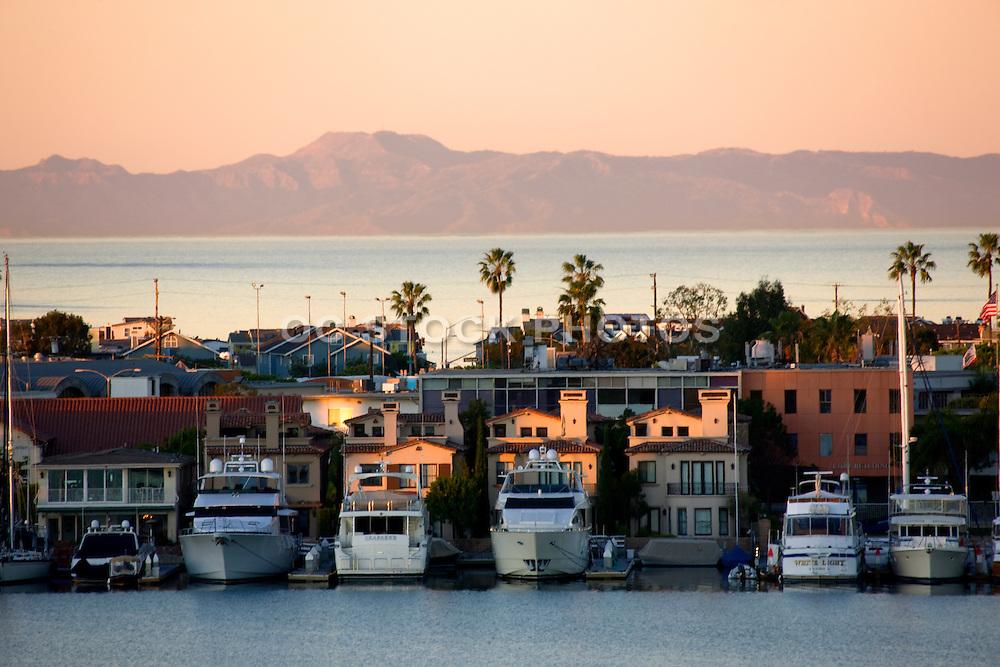 The Bay and Peninsula In Newport Beach, Orange County, California