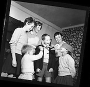 Children playing Halloween games at Stephen's, Botanic Road, Glasnevin on the 28th of October 1960.