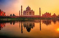 Taj Mahal, Yamuna River, Agra, India