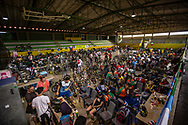 The team area at the 2016 UCI BMX World Championships in Medellin, Colombia.