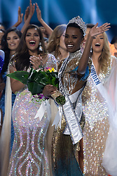 December 8, Atlanta, Georgia, USA: Zozibini Tunzi, Miss South Africa 2019 is crowned Miss Universe at the conclusion of The Miss Universe Competition at Tyler Perry Studios in Atlanta. The new winner will move to New York City where she will live during her reign and become a spokesperson for various causes alongside The Miss Universe Organization.  (Credit Image: © Miss Universe Organization/ZUMA Wire/ZUMAPRESS.com)