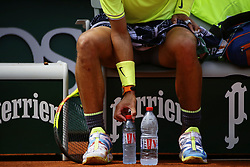 May 29, 2019 - Paris, France - Spain's Rafael Nadal is seen during a break during their men's singles second round match against Germany's Yannick Maden on day four of The Roland Garros 2019 French Open tennis tournament in Paris on May 29, 2019. (Credit Image: © Ibrahim Ezzat/NurPhoto via ZUMA Press)
