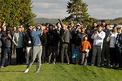 Oct 18, 2018-Jeju, South Korea-Brooks Koepka of USA action on the 10th green during the PGA Golf CJ Cup Nine Bridges Round 1 at Nine Bridges Golf Club in Jeju, South Korea.