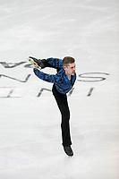 KELOWNA, BC - OCTOBER 26: German figure skater Paul Fentz competes during the men's long program / free skate of Skate Canada International held at Prospera Place on October 26, 2019 in Kelowna, Canada. (Photo by Marissa Baecker/Shoot the Breeze)