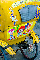 Ronald McDonald painted on the back of a motordriven rickshaw, Suzhou, China