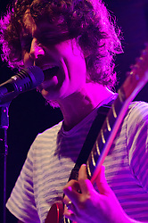 "© Licensed to London News Pictures. 02/05/2012. London, UK. The Rapture perform live at Shepherds Bush Empire.  The Rapture is an Indie rock band based in New York City. They are promoting their fourth album ""In the Grace of Your Love"", released in 2011.  The band mixes influences from many genres including post-punk, acid house, disco, electronica and rock, pioneering the post-punk revival genre. They were forerunners of the post-punk revival of the early 2000s, as they mixed their early post-punk sound with electronic and dance elements.  Photo credit : Richard Isaac/LNP"
