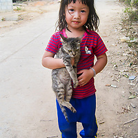 Girl with a Cat by Mida