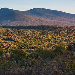 Saddleback Mountain and The Horn as seen from Reddington Township, Maine. High Peaks Region.