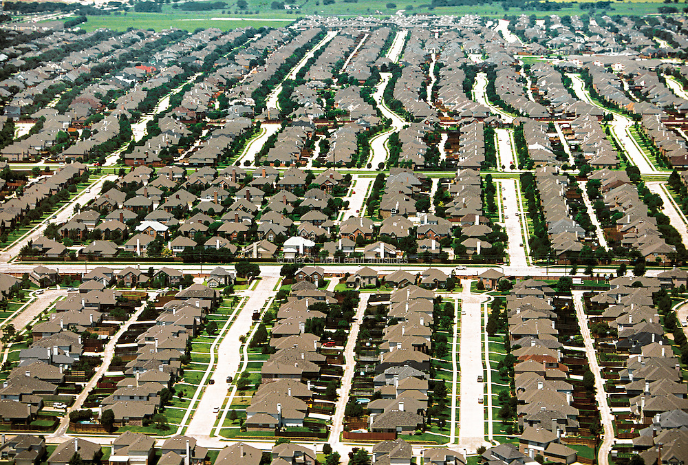 In the 1980s many large corporations moved to Plano, a suburb of Dallas.  Between 1990 and 2000, the city's population nearly doubled, growing from 128,000 to 222,000.