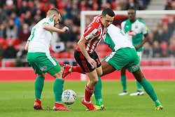 March 2, 2019 - Sunderland, England, United Kingdom - Sunderland's George Honeyman contests for the ball with Plymouth Argyle's David Fox during the Sky Bet League 1 match between Sunderland and Plymouth Argyle at the Stadium Of Light, Sunderland on Saturday 2nd March 2019. (Credit Image: © Mi News/NurPhoto via ZUMA Press)