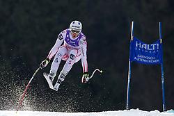 12.02.2011, Kandahar, Garmisch Partenkirchen, GER, FIS Alpin Ski WM 2011, GAP, Herren Abfahrt, im Bild Romed Baumann (AUT) takes to the air competing in the men's downhill race on the Kandahar race piste at the 2011 Alpine skiing World Championships, EXPA Pictures © 2010, PhotoCredit: EXPA/ M. Gunn