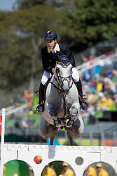 Gaudiano Emanuele, ITA, Caspar<br /> owner of the horse of Jerome with arms in the air<br /> Olympic Games Rio 2016<br /> © Hippo Foto - Dirk Caremans<br /> 14/08/16