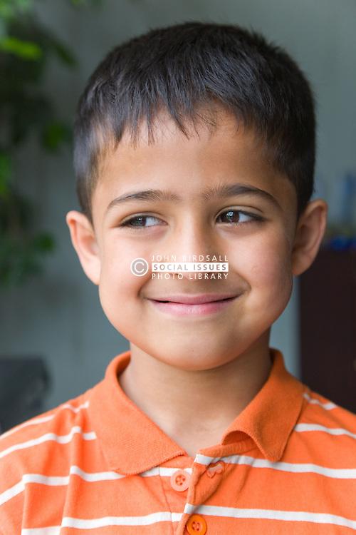 Portrait of a little boy smiling,