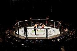 A general view of Paul Craig (left) in action against Magomed Ankalaev at The O2 Arena, London.