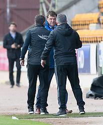 Aberdeen manager Derek McInnes and St Johnstone manager Tommy Wright at the end. St Johnstone 1 v 2 Aberdeen. SPFL Ladbrokes Premiership game played 15/4/2017 at St Johnstone's home ground, McDiarmid Park.