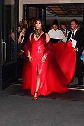 Nicki Minaj on the way to the Met Gala 2018. 07 May 2018 Pictured: Nicki Minaj on the way to the Met Gala 2018. Photo credit: Sahara / MEGA TheMegaAgency.com +1 888 505 6342