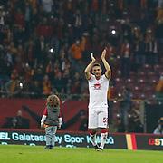 Galatasaray's Sabri Sarioglu celebrate victory during their Turkish Super League soccer match Galatasaray between Mersin idman Yurdu at the AliSamiYen Spor Kompleksi TT Arena at Seyrantepe in Istanbul Turkey on Saturday, 20 December 2014. Photo by Aykut AKICI/TURKPIX