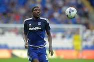 Sammy Ameobi of Cardiff city in action.  Skybet football league championship match, Cardiff city v Wolverhampton Wanderers at the Cardiff city stadium in Cardiff, South Wales on Saturday 22nd August 2015.<br /> pic by Andrew Orchard, Andrew Orchard sports photography.