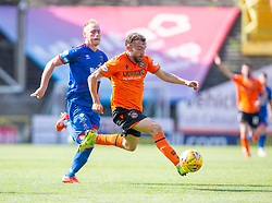 Inverness Caledonian Thistle's Carl Tremarco and Dundee United's Paul McMullan. Dundee United 4 v 1 Inverness Caledonian Thistle, first Scottish Championship game of season 2019-2020, played 3/8/2019 at Tannadice Park, Dundee.