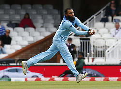 May 27, 2019 - London, England, United Kingdom - Adil Rashid of England.during ICC Cricket World Cup - Warm - Up between England and Afghanistan at the Oval Stadium , London,  on 27 May 2019. (Credit Image: © Action Foto Sport/NurPhoto via ZUMA Press)