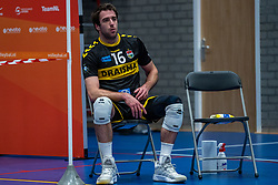 Mats Kruiswijk of Dynamo disappointed after the cup final between Amysoft Lycurgus vs. Draisma Dynamo on April 18, 2021 in sports hall Alfa College in Groningen