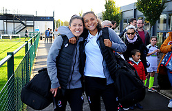 Carla Humphrey and Abi Harrison of Bristol City arrive prior to kick-off- Mandatory by-line: Nizaam Jones/JMP - 27/10/2019 - FOOTBALL - Stoke Gifford Stadium - Bristol, England - Bristol City Women v Tottenham Hotspur Women - Barclays FA Women's Super League