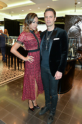 JOHN SCHLUTER Chief Brand Officer of Thomas sabo and SARAH-JANE CRAWFORD at the Thomas sabo & Professional Player cocktail reception at Thomas sabo, 65 South Molton Street, London on 30th September 2015.