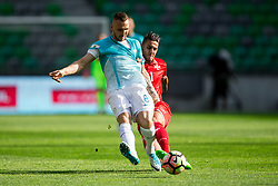 Jasmin Kurtic of Slovenia vs Luke Gambin of Malta during football match between National teams of Slovenia and Malta in Round #6 of FIFA World Cup Russia 2018 qualifications in Group F, on June 10, 2017 in SRC Stozice, Ljubljana, Slovenia. Photo by Vid Ponikvar / Sportida