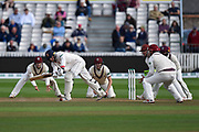 Tom Westley of Essex batting with somerset fielders in close during the Specsavers County Champ Div 1 match between Somerset County Cricket Club and Essex County Cricket Club at the Cooper Associates County Ground, Taunton, United Kingdom on 26 September 2019.