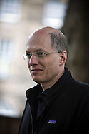 Acclaimed British philosopher and writer Alain de Botton, pictured at the Edinburgh International Book Festival where he talked about his new work. The three-week event is the world's biggest literary festival and is held during the annual Edinburgh Festival. The 2014 event featured talks and presentations by more than 500 authors from around the world and was the 31st edition of the festival.