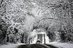 Heavy snowfall in South East England
