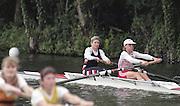 "Henley on Thames. Henley. GREAT BRITAIN;  GBR LW2-, Bow Alison BROWNLESS , Jane HALL<br /> <br /> 1995 Women's Henley Regatta. Henley Reach. River Thames.<br /> <br /> [Mandatory Credit; ""Photo, Peter Spurrier/Intersport-images]"
