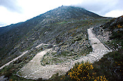 SPAIN, CASTILE and LEON Sierra de Gredos Mountains, southwest of Avila; Roman Road, 1st. century AD, at Puerto de Pico pass