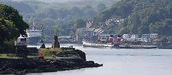Waverley is one of the world's greatest historic ships – the last sea-going paddle steamer in the world. Seen here leaving Oban on a beautiful summer morning for a cruise around the Inner Hebrides Islands. (c) Stephen Lawson   Edinburgh Elite media