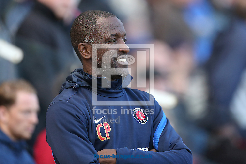 Picture by Paul Gaythorpe/Focus Images Ltd +447771 871632.27/04/2013.Charlton Athletic manager Chris Powell before the npower Championship match at the Riverside Stadium, Middlesbrough.
