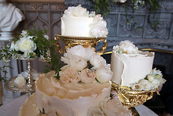 The wedding cake by Claire Ptak of London-based bakery Violet Cakes in Windsor Castle for the wedding of Meghan Markle and Prince Harry.