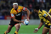Chiefs' Richard Kahui in action. Super Rugby rugby union match, Chiefs v Hurricanes at Waikato Stadium, Hamilton, New Zealand. Saturday 28th April 2012. Photo: Anthony Au-Yeung / photosport.co.nz