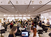Helsinki, Akateeminen book store . the cefeteria designed by Alvar Aalto