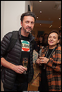 DIEGO FORTUNATO; CONSUELO GONZALEZ, Born in the USSR, Design exhibition opening. Gallery Elena Shchukina, Beauchamp Place, Knightsbridge. London. 15 September 2014.