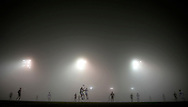 Northwestern's men's soccer team plays Loyola at Lakeside Athletic Field at Northwestern University on October 30, 2013 in Evanston, Illinois.